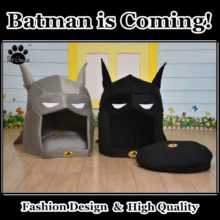 Amazing Batman-themed dog house / bed in 2 colors!