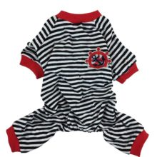 Pretty striped cotton Yorkie pajamas / 3 Colors