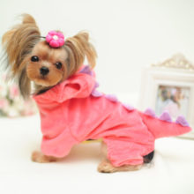 Super cute Dinosaur-style puppy pajamas in 2 colors