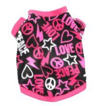 """Pretty, colorful """"Peace / Love"""" sweatshirt (3 colors available)"""