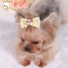 Absolutely lovely rhinestone puppy hair bow