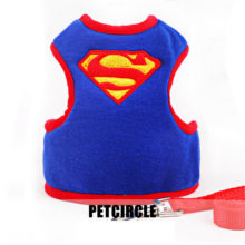 Very cool adjustable superhero-inspired puppy cotton harness