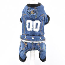 Very pretty denim / jean puppy jumpsuit outfit