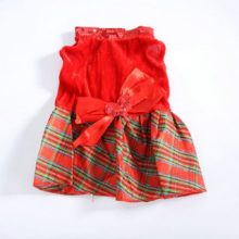 Lovely Christmas-style puppy dress