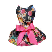 Elegant Floral Ribbon puppy dress / outfit