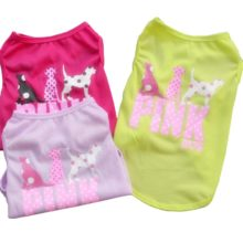 "Cute animal-inspired ""Pink Dog"" Yorkie Shirt / 3 colors"