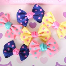 3pcs of Lovely Yorkie hair bows / pins