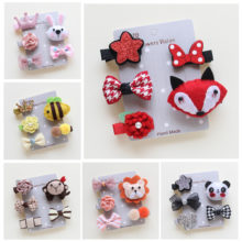 Lovely animal-inspired Yorkie Hair Clips / 5 pieces